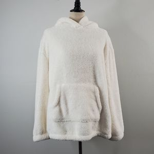 Aeropostale Teddy Hoodie in Off White